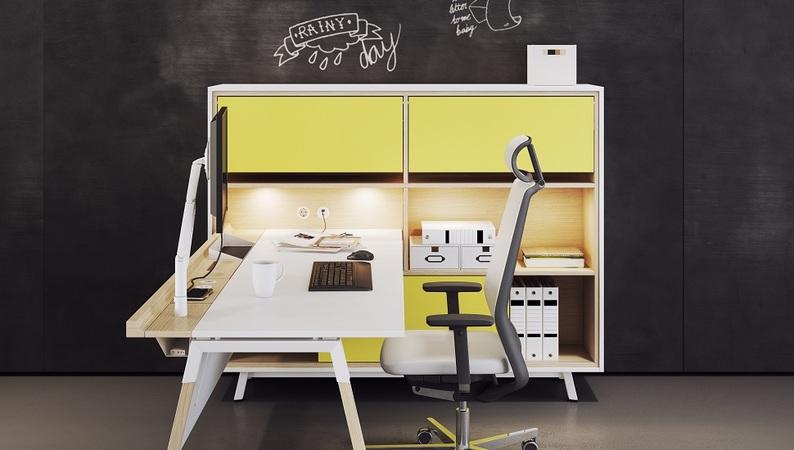 OKA HomeLine Solitär mit eingetauchtem OKA HomeLine Schreibtisch